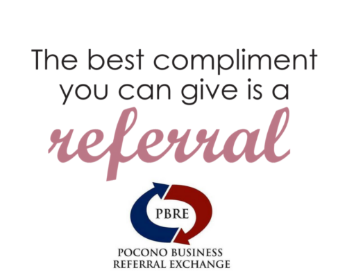 Referrals are important in building a small business network!